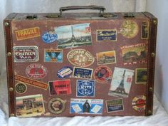 I've always wanted an old suitcase and to get stickers from all ...