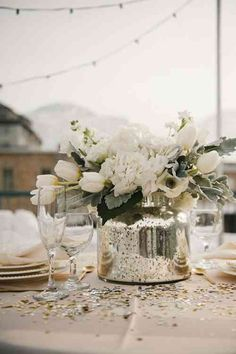 décoration de mariage et table pour l'hiver