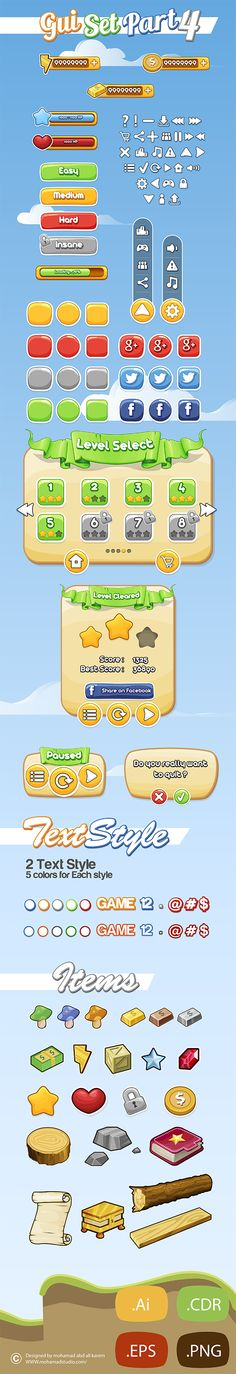 Game GUI Part 4 on Behance