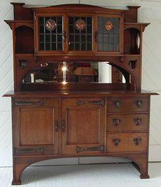 Arts & Crafts oak dresser, Waring & Gillow (stamped drawer) Circa 1900