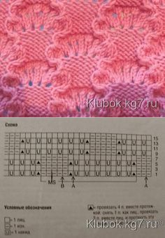 Knitting pattern - # Rope Examples # pattern instruction Crochet is definitely a task Lace Knitting Stitches, Lace Knitting Patterns, Knitting Charts, Easy Knitting, Loom Patterns, Loom Knitting, Knitting Designs, Stitch Patterns, Crochet Pattern