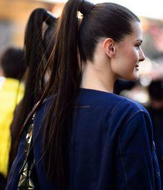 High ponies at Paris Fashion Week.