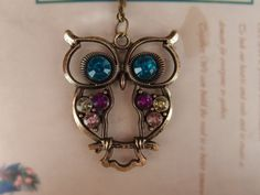 SALE Antiqued Night Owl Locket Necklace by Especially2U on Etsy, $3.99