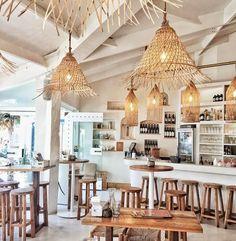 After work drinks Byron sounds perfect ✌ Via . Decoration Restaurant, Deco Restaurant, Outdoor Restaurant, Restaurant Website, Coffee Shop Design, Cafe Design, House Design, Cafe Shop, Cafe Bar