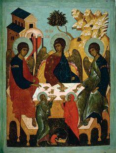 Ospitalità di Abramo / Hospitality of Abraham #icons #sacredart #art