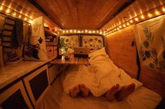 """2,714 Likes, 41 Comments - Vanlife ↠ Hannah & Ollie♂️ (@whoknowswherenext) on Instagram: """"Getting cosy in our cabin after a day of exploring ✨ ↠ Though staying cosy might be difficult…"""""""