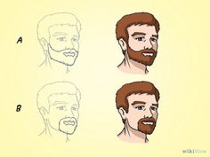 How to Draw Faces With Beards