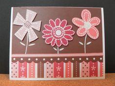 Flowers handmade cards for kids. Cartes fleurs faites main pour enfant.