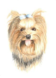 Yorkshire terrier dog painting 5x7, original watercolor painting yorkie pet portrait home decor earthspalette op Etsy, 34,62 €