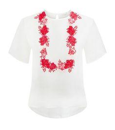 GIAMBATTISTA VALLI Floral Embroidered Top. #giambattistavalli #cloth #