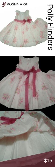 Polly Flinders Toddler Dress 18mo Excellent condition from smoke-free home.  100% Cotton   Bloomers included Polly Flinders  Dresses Casual