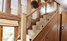 Neville Johnson has over 30 years' in creating innovative fitted furniture. We have stunning collections of fitted furniture and staircase renovations. Stair Banister, Timber Staircase, New Staircase, Oak Stairs, Glass Stairs, Staircase Design, Railings, Staircase Ideas, Banisters
