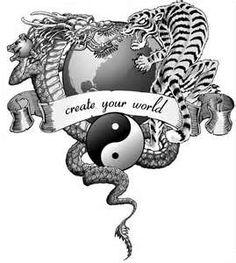 Dragon Tiger Tattoo 1st Draft 1 30 Bw Flatjpg