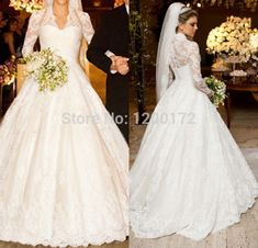 Дешевое Свадебные платья noiva реальные свадебные платья бальное платье с длинным рукавом свадебное платье 2014 свадебное платье кружева свадебное платье халат де mariage, Купить Качество Свадебные платья непосредственно из китайских фирмах-поставщиках:       Ребенка показать/yanling свадебное платье ------             Vestidos де нойва настоящие Свадебные платья бальное