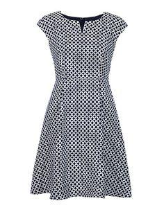 Petite Circle Print Jacquard Prom Dress Clothing - YEP