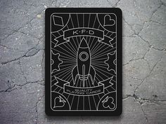 Dribbble - KFD Playing Card by Kate Ferrara