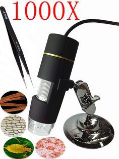 1000X 8LED 2MP Digital Microscope usb Microscope  PCB Inspection Camera Endoscope Loupe Webcam