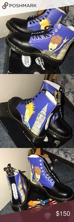 Beavis & ButtHead Dr Marten Pascal Beavis & ButtHead Dr Marten Pascal Dr. Martens Shoes Combat & Moto Boots