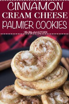 Cinnamon Cream Cheese Palmier Cookies | Posted By: DebbieNet.com