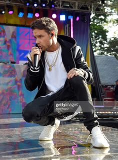 Liam Payne performs on ABC's 'Good Morning America' at Rumsey Playfield on July 21, 2017 in New York City.
