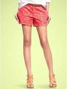 Paisley canvas shorts