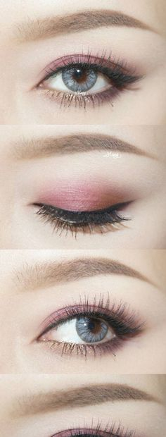 follow me @cushite eye make up #Koreanmakeuptutorials