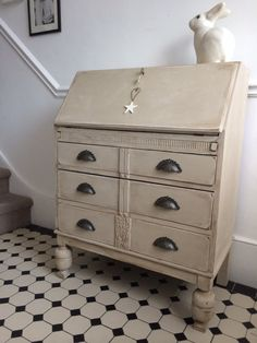 SOLD Beautiful Antique Writing Bureau  Shabby by Flamingopinks, £295.00