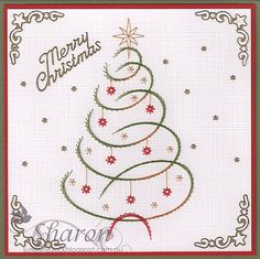 Christmas is not very far away!!! The cards below are very quick and easy to stitch and are available from Ann's Paper Art webshop ...