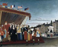 Henri Rousseau dit Le Douanier (1844-1910) - Les représentants des puissances étrangères venant saluer la République en signe de paix (1907) Huile sur toile H. 130 ; L. 161 cm Paris, musée Picasso de Paris