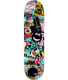 """Keep the ghetto style alive and well on the DGK Collage 7.8"""" skateboard deck featuring a custom DGK logo collage graphic on bottom and a smooth as butter shape that will keep your skate skills one step ahead of the rest. <b>Tested and approved by DGK supe"""