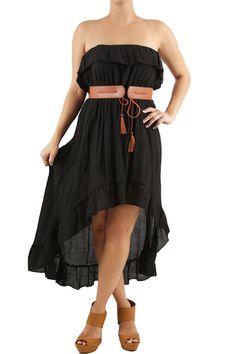 Strapless Hi/Lo Ruffle Dress  $16.99