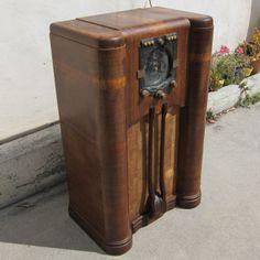 Zenith 9S365 Antique Shutter Dial Stars Bars Tube Radio Art Deco