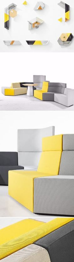 Prisma by Derlot Editions​ was developed to answer the increasing need for adaptable furniture in contemporary #workplace and hospitality environments