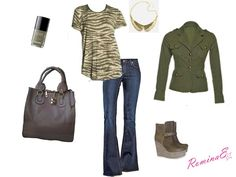 Look of the day. Military look.