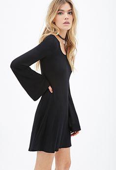 Bell Sleeve Dress | FOREVER21 - 2000097167