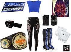 """""""WWE Diva Smackdown"""" by breya ❤ liked on Polyvore"""