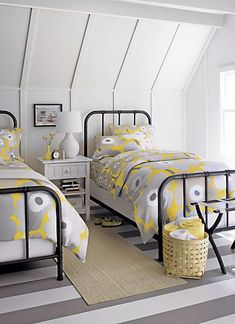 YELLOW AND GRAY ROOM INSPIRATIONS | Gray and Yellow Home Inspiration: Guest Room: Crate Scholar ...
