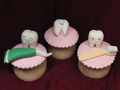 Dentist Teeth Cupcakes