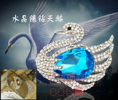 crystal swan large stone alloy diy bling phone deco etc Swans, Craft Supplies, Sapphire, Bling, Crystals, Deco, Phone, Crafts, Jewelry