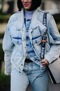 Street style during Paris Fashion Week on Sunday, March 4th in Paris, France. Photo by Adam Katz Sinding for W Magazine.