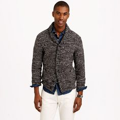 Feels like a sweater, wears like a lightweight jacket (once the heavy wool is packed away but you still need <i>something</i>, it's time to bring this guy out). The marled cotton is made with multicolored yarns, so it's perfect for the guy who likes a little character in his clothes. <ul><li>Cotton.</li><li>Patch pockets.</li><li>Machine wash.</li><li>Import.</li></ul>