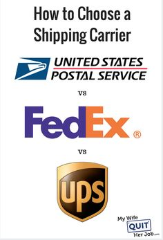 How to Choose a Shipping Carrier (USPS, UPS, FedEx)    Assuming you ship physical goods to your end customer, at some point you'll need to figure out how you will be getting your products to their destinations.   There are a multitude of different ways to ship packages and it can get quite confusing deciding what the best option is for your online store.