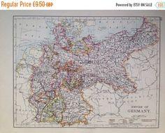 GERMANY Original Antique Map Nouvel Atlas Illustre French - Antique maps for sale uk