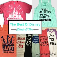 THE BEST SOURCES FOR DISNEY SHIRTS & TEES — the homemade fig Disney Vacation Shirts, Disney Shirts For Family, Shirts For Teens, Disney Family, Disney Style, Disney Vacations, Disney Trips, Disney Love, Disney Disney