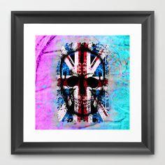 Skull Jack Framed Art Print by seb mcnulty - $32.00