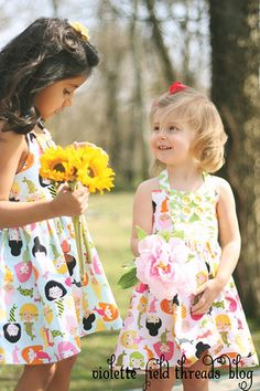 """Violette Field Threads """"Ginger"""" dress using Mermaids and Chevron prints.  Adorable!"""