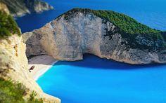 Download wallpapers Navagio Beach, summer, bay, greek landmarks, Zakynthos, Ionian Sea, Greece, Europe