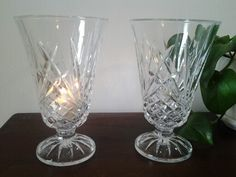 Crystal vases/candle holders