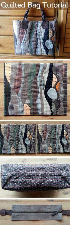 Diy picture tutorial Patchwork bag, pattern - quilt. Стеганая сумка - http://www.handmadiya.com/2015/08/patchwork-bag-pattern-quilt.html