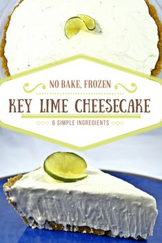 Are you looking for an easy key lime cheesecake recipe? If so, check out this no bake frozen key lime cheesecake recipe on Giveaways 4 Mom. Frozen Cheesecake, Key Lime Cheesecake, Cheesecake Recipes, Cake Mix Recipes, Cupcake Recipes, Cupcake Cakes, Dessert Recipes, Cupcakes, Drink Recipes